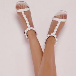 T Bar Button Detail Heels